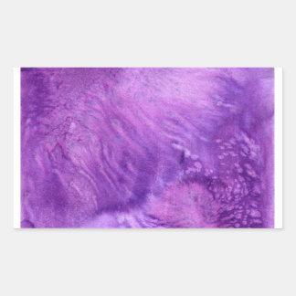 Deep Purple Watercolor Painted Wine Plum Rectangular Sticker