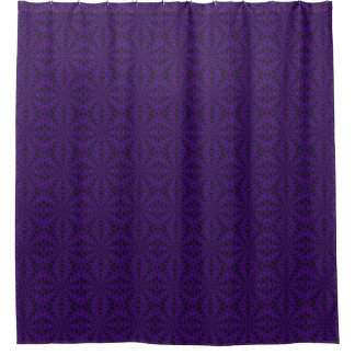 Deep Purple with patterns shower curtain