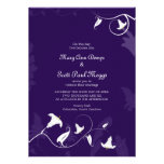 Deep Purple with white Lillies Invitation