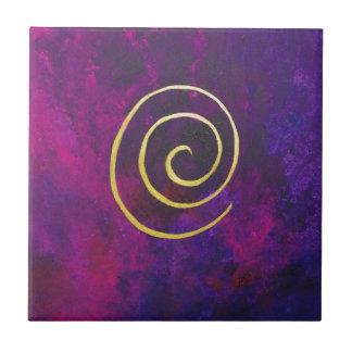 Deep Purple y pintura moderna del arte abstracto d Azulejo Cuadrado Pequeño