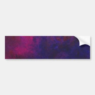 Deep Purple y pintura moderna del arte abstracto d Pegatina De Parachoque