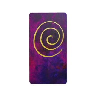 Deep Purple y pintura moderna del arte abstracto d Etiqueta De Dirección