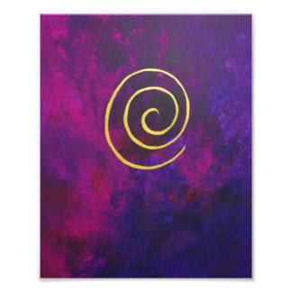 Deep Purple y pintura moderna del arte abstracto d Foto