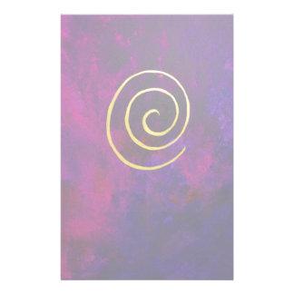 Deep Purple y pintura moderna del arte abstracto d Papeleria
