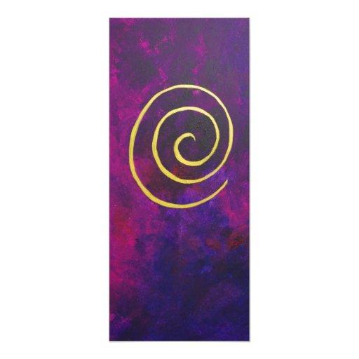 """Deep Purple y pintura moderna del arte abstracto Invitación 4"""" X 9.25"""""""