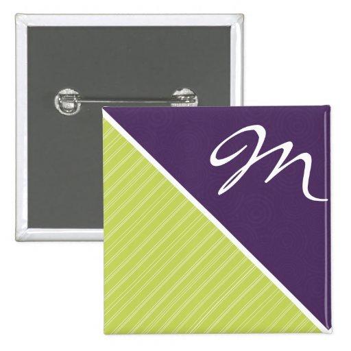 Deep Purple y verde lima Pin