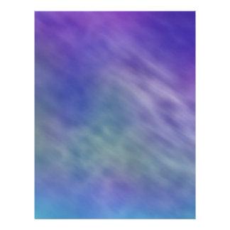 Deep Rainbow Colored Sky Background Flyer