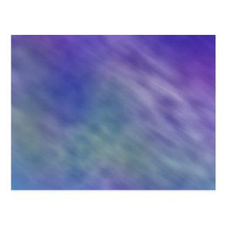Deep Rainbow Colored Sky Background Postcard