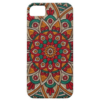 Deep Red and Turquoise Mandala Phone Case