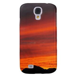 Deep red Arizona sunset Galaxy S4 Cases