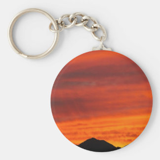 Deep red Arizona sunset Keychain