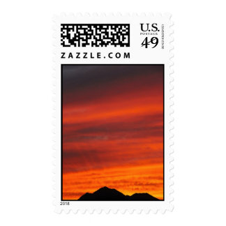 Deep red Arizona sunset Postage Stamp