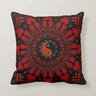 Deep Red Balance (Yin Yang) Cushion / Pillow