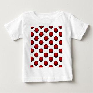 Deep Red Basketball Pattern T-shirt
