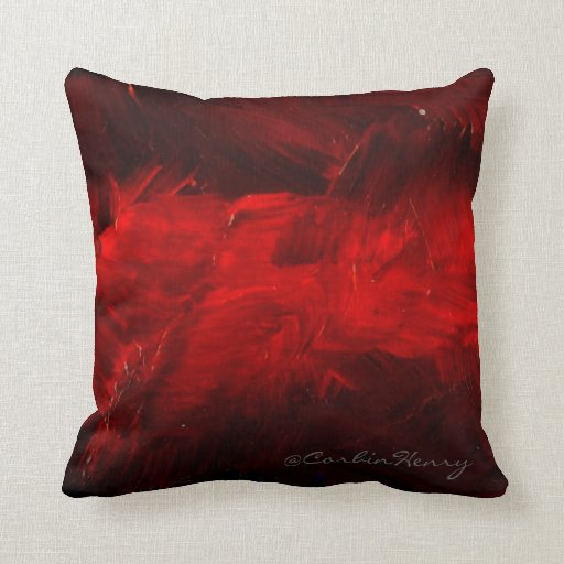 Decorative Pillows With Red In Them : Deep Red Decorative Pillow Zazzle