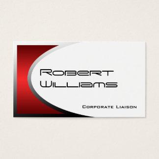 Deep Red Ellipse Modern Professional Business Card