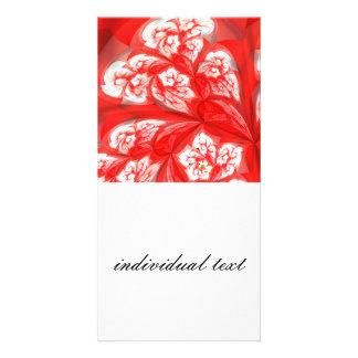 deep red fractal flowers (A) Photo Card