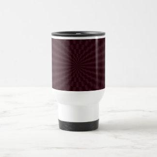 Deep Red Geometric Circles Mug