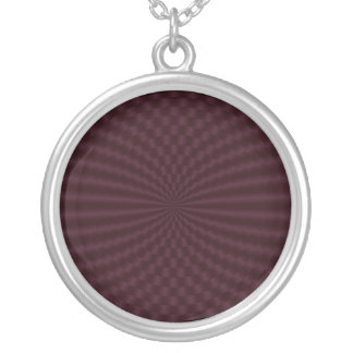Deep Red Geometric Circles Necklace