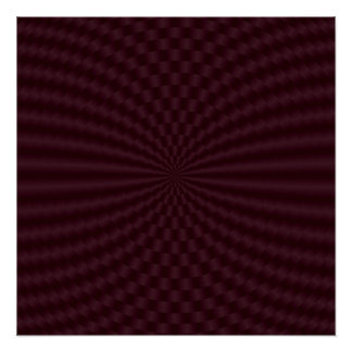 Deep Red Geometric Circles Perfect Poster