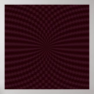 Deep Red Geometric Circles Poster