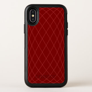 Deep red geometry OtterBox symmetry iPhone x case