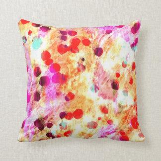 Deep Red Grunge Paint Splatters Pillow