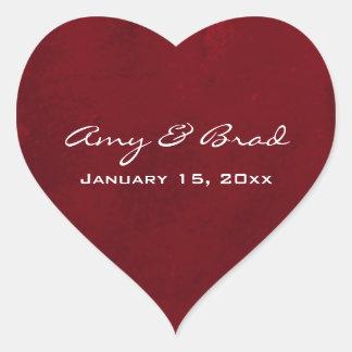 Deep red hearts with swirls heart sticker