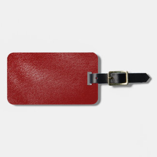 Deep Red Leather Look Bag Tag