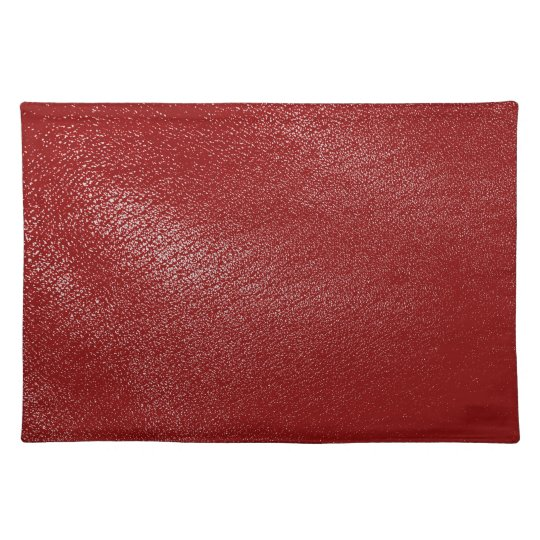 Deep Red Leather Look Cloth Placemat Zazzle Com