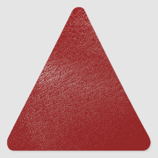 Deep Red Leather Look Triangle Sticker