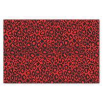 Deep Red Leopard Wild Cat Animal  Print Tissue Paper