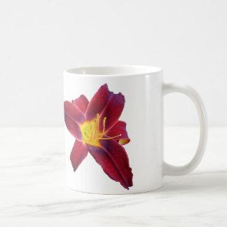 Deep Red Lilly Classic White Coffee Mug