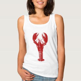Deep Red Lobster Tank Top
