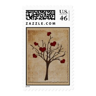 Deep Red Love Valentine Hearts Fruit Tree Postage