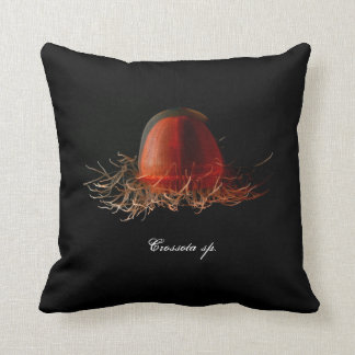 Deep red medusa pillow