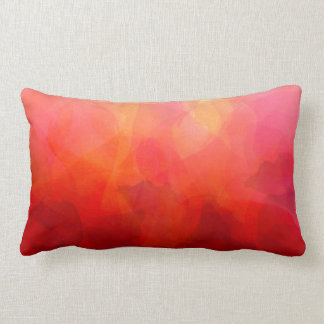 Deep Red Orange Yellow Watercolor Background Lumbar Pillow