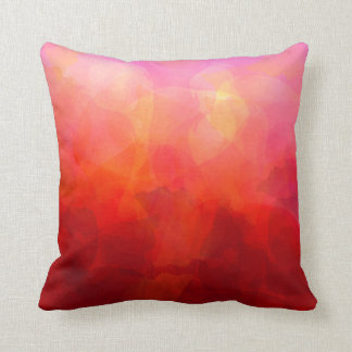 Deep Red Orange Yellow Watercolor Background Throw Pillows