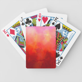 Deep Red Orange Yellow Watercolor Background Bicycle Poker Deck