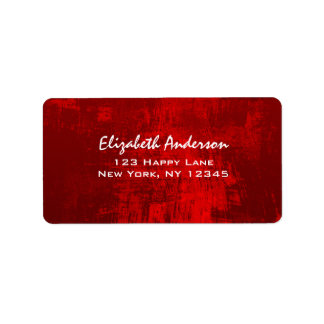 Deep Red Painted Texture Abstract Background Label