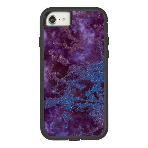 Deep red purple blue ombre glitter marble Case-Mate tough extreme iPhone 8/7 case