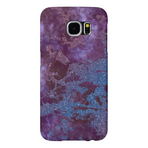 Deep red purple blue ombre glitter marble samsung galaxy s6 case