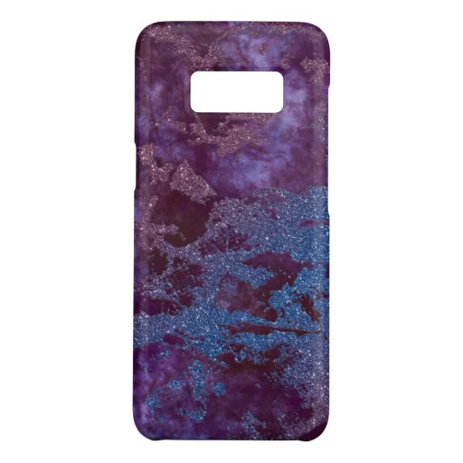 Deep red purple blue ombre glitter marble Case-Mate samsung galaxy s8 case