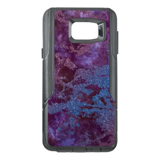 Deep red purple blue ombre glitter marble OtterBox samsung note 5 case