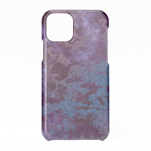 Deep red purple blue ombre glitter marble iPhone 11 pro case