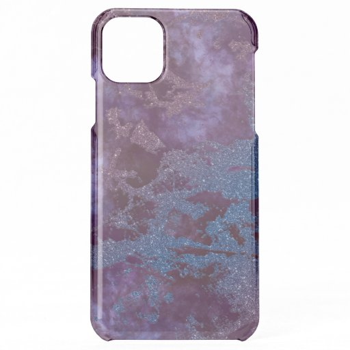 Deep red purple blue ombre glitter marble iPhone 11 pro max case