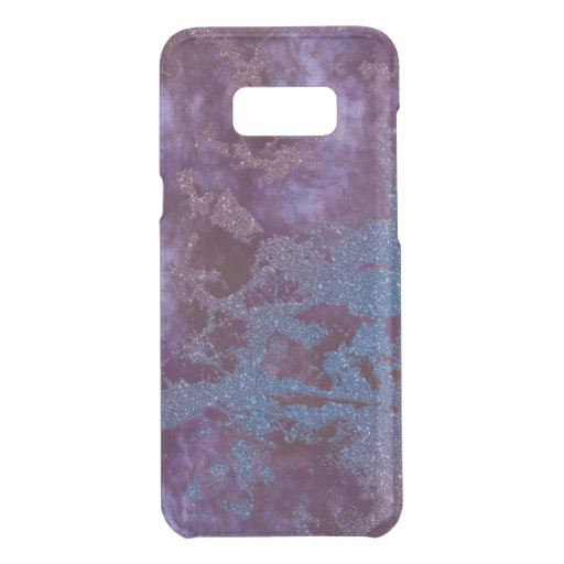 Deep red purple blue ombre glitter marble uncommon samsung galaxy s8  case