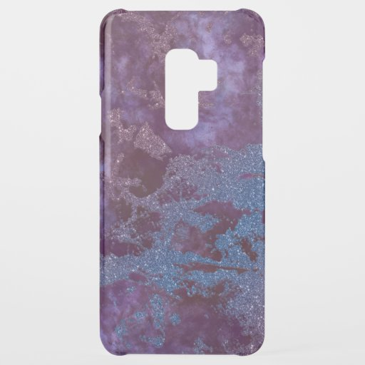 Deep red purple blue ombre glitter marble uncommon samsung galaxy s9 plus case