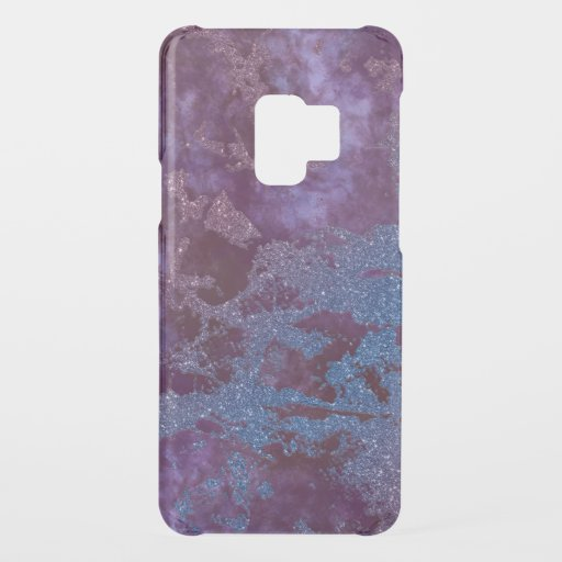 Deep red purple blue ombre glitter marble uncommon samsung galaxy s9 case