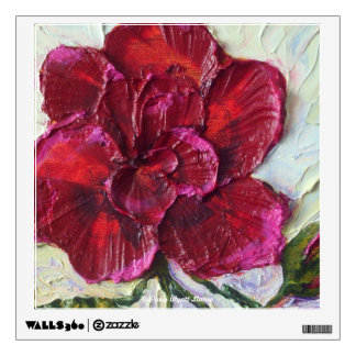 Deep Red Rose Floral Wall Decal